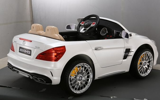 Электромобиль Mercedes-Benz SL 65 AMG (колеса резина, кресло кожа, пульт, музыка)